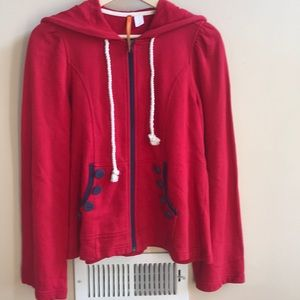 Anthropologie Sunday/Saturday Red Hooded Jacket